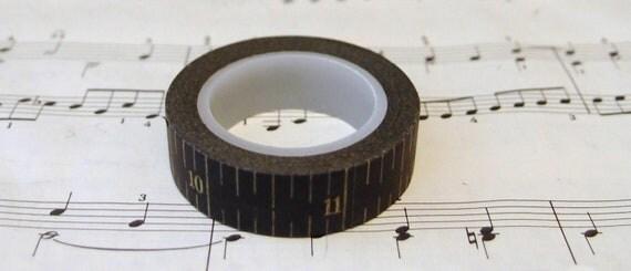 Japanese Washi Masking Tape. mt masking tape, pretty washi tape,Black Ruler Tape