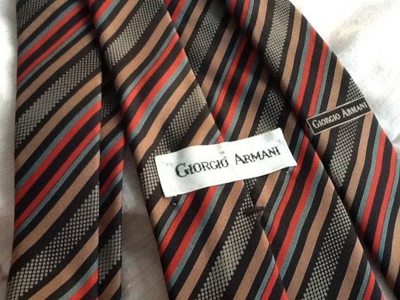 ON SALE Vintage Giorgio armani Silk Tie Diagonal Stripes