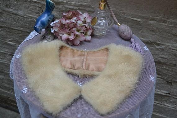 Soft 1950's Mink Fur Collar