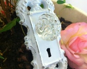 Wall Hook, Wall Hanger, Shabby Chic  White Satin Hook