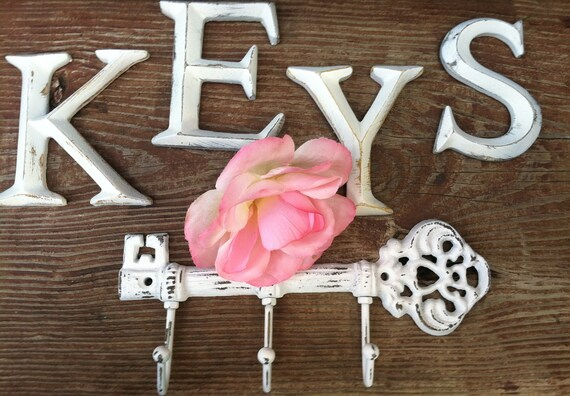 Cast Iron Wall Decor, Wall Hanger, Letters, Small Letters, Hooks, LeTTers and HarDware INclUDed