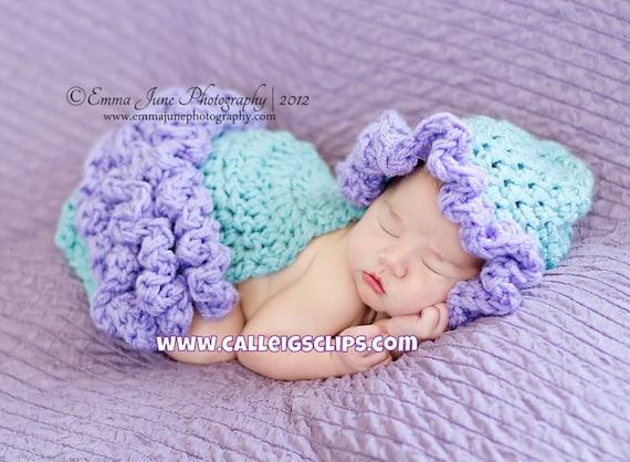 Frilly Ruffles Cuddle Cape Set Newborn Photography Prop