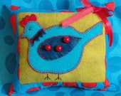 January Woolly Birdie, A Parttern to Embroidery a Small Pillow