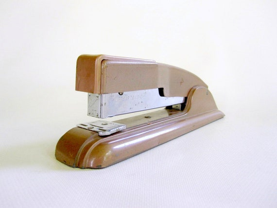 Back to School Vintage Swingline Stapler - Brown Stapler Office Desk Accessory