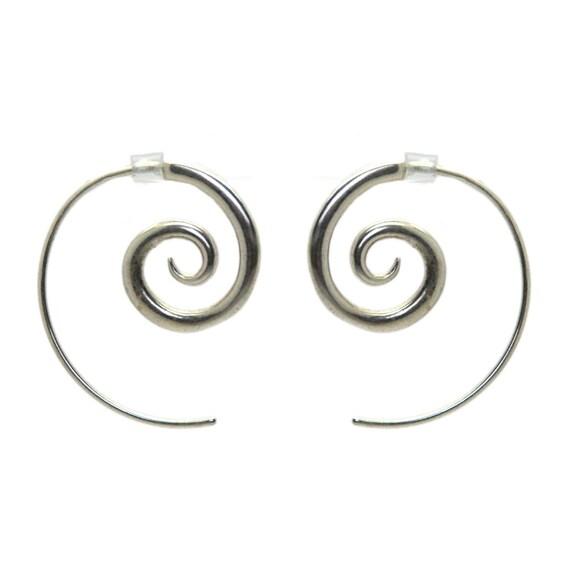 Spiral Sterling Silver Earrings (Medium)