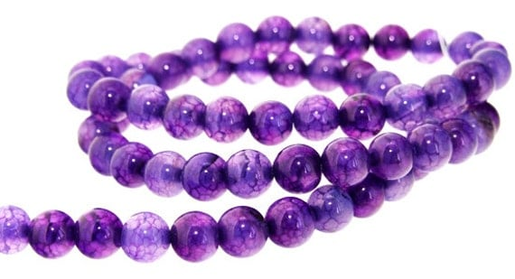 Charm Purple Dragon Agate Round 6mm Gemstone Beads One strand