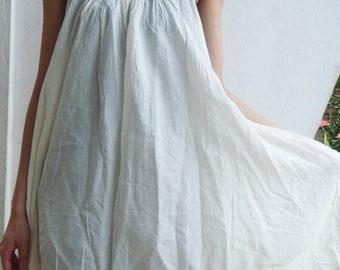 D10, Swan Off White Cotton Dress, cream sundress