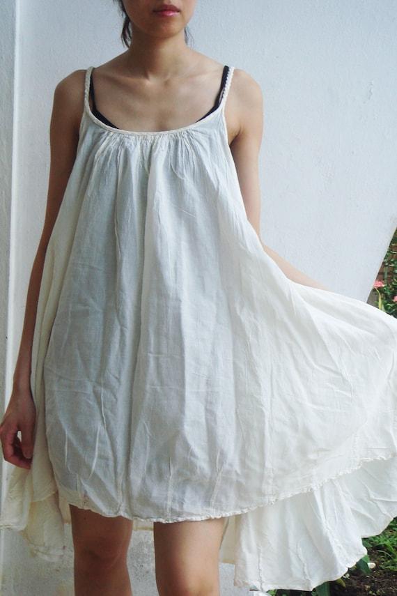 D10 Swan Off White Cotton Dress cream sundress