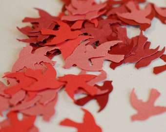 Paper Birds Red Doves Die Cuts Red 100 pieces Martha Stewart Punch