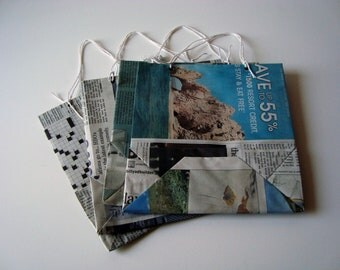 Recycled Newspaper Gift Bags - Small Size