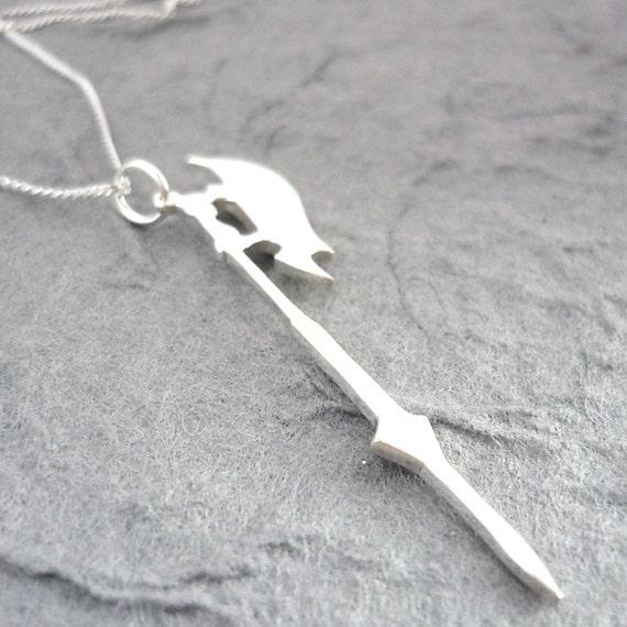 Sterling Silver Handmade Slayer's Scythe Pendant