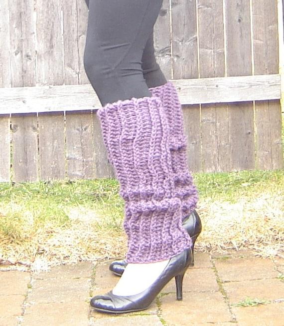 Purple, Periwinkle Crochet Legwarmers