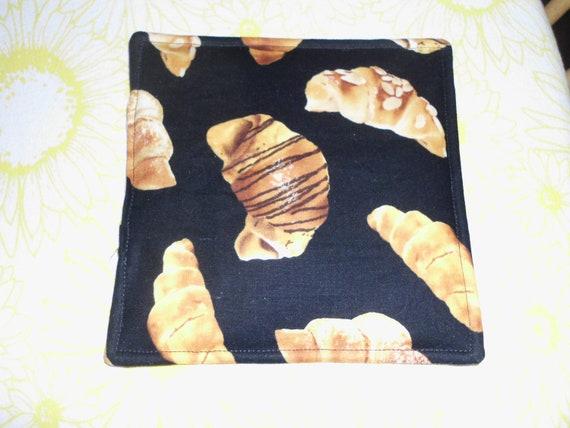 Chocolate croissant hot pad