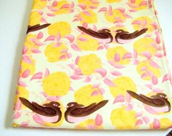 Bird Fabric by Tina Givens, Nikki Gabrielle Yellow, OOP