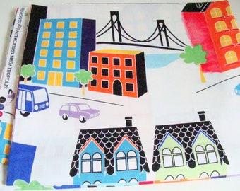 "City Scene Fabric, Michael Miller Megatropolis, OOP, Last 51"" Piece"