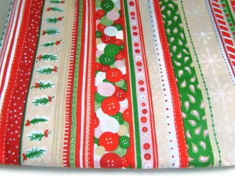 "Alexander Henry Sew Christmas Stripe Fabric,, OOP Last 48"" Piece"