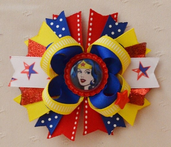 Wonder Woman Boutique Layered Hair Bow