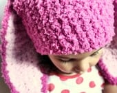0 to 3m Pink Baby Hat, Newborn Bunny Hat, Raspberry Pink Girl Hat, Bunny Beanie Dark Pink, Baby Pink Newborn Bunny Ears Photo Prop