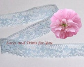Blue Lace Trim 12 Yards Vintage 3/4 inch wide Lot J57A Added Items Ship No Charge