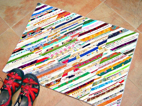 LARGE Upcycled Selvage Bath Mat Rug