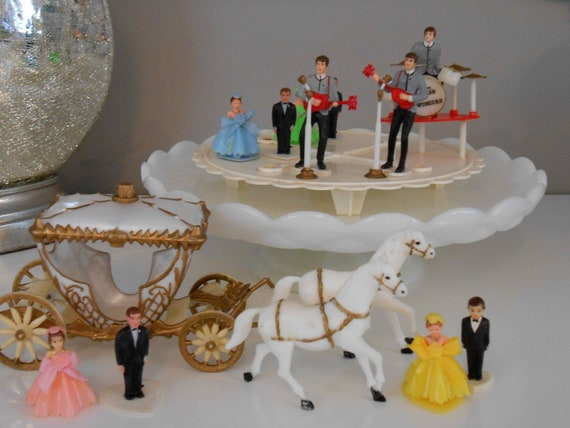 Vintage Cake Topper Lot Beatles Cinderella