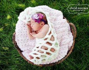 PDF Newborn Stork Pouch Crochet Pattern Hanging Sack Cocoon Wrap