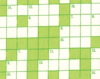Bungle Jungle - Crosswords Lime by Tim & Beck for Moda Fabrics