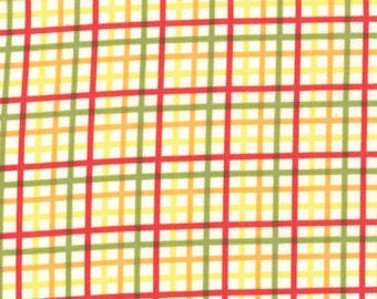 "Bungle Jungle - Zoo Checks Yellow by Tim & Beck for Moda Fabrics - 34"" Remnant"