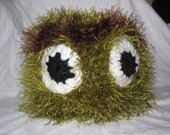 Oscar the GROUCH fuzzy hat ,perfect for HALLOWEEN or PHOTO prop, great unique gift, Made To Order