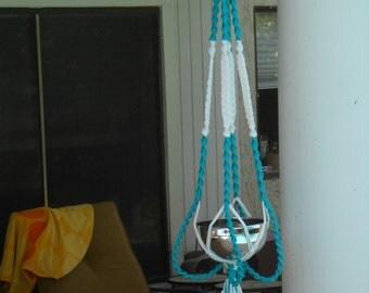 Macrame Plant Hanger Blue Curacao