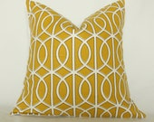 Golden Circular Pillow Cover