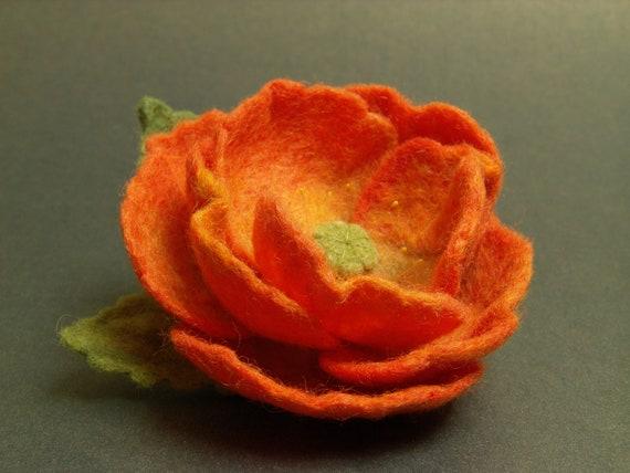 Felt Flower Brooch Needle Felted Brooch