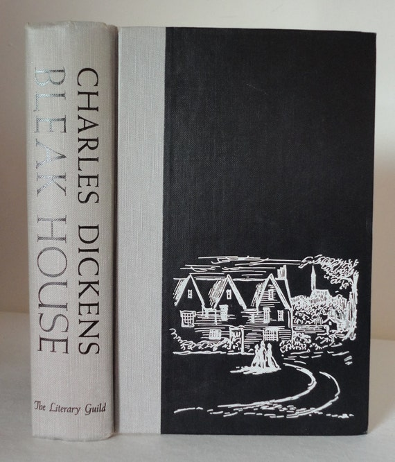Bleak House by Charles Dickens Vintage 1953 Literary Guild Illustrations by Edward Gorey Hardcover Fiction Decorative Book
