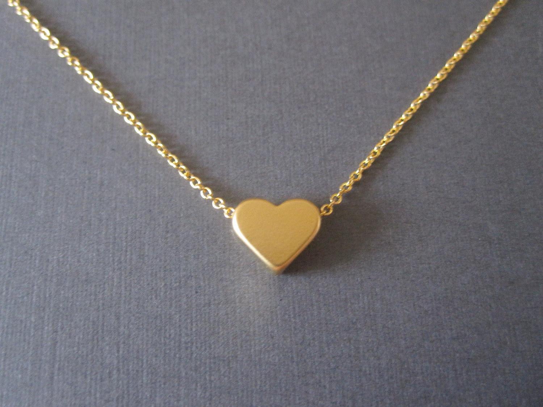 gold heart necklace. Black Bedroom Furniture Sets. Home Design Ideas