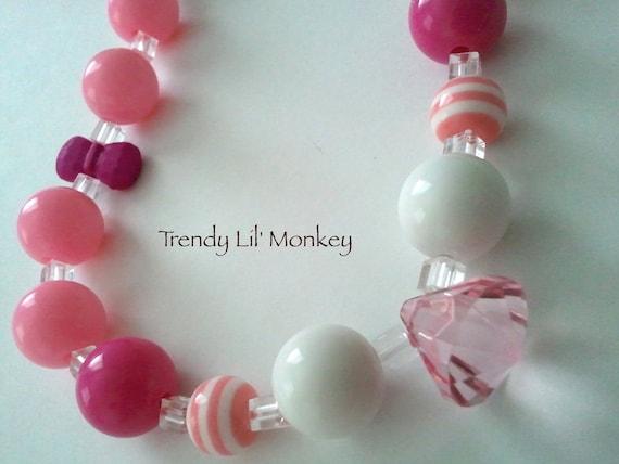 Sweet Pink Lemonade M2M Chunky Necklace
