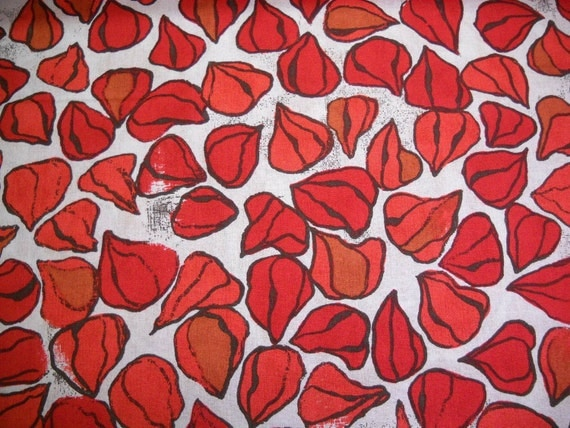 Scattered Lantern Pods-Orange-Karens Fabric