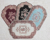 Miniature Elegant Shaped Rug in Choice of Colors Sized for Dollhouse or Playscale Rooms