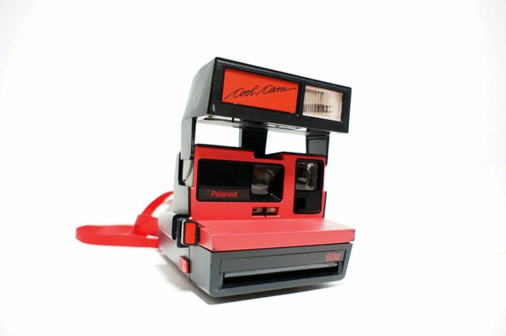 Rare Red Polaroid Camera Cool Cam - Film Tested Working
