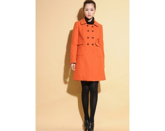Lovely Classic Double-Breasted Wool Jacket / Coat Dress/ 18 Colors/ RAMIES