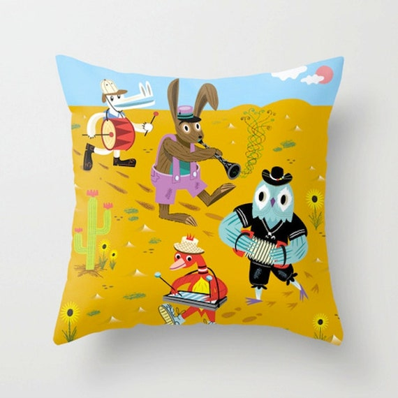 "The Animal Jamboree -  Throw Pillow / Cushion Cover (16"" x 16"") iOTA iLLUSTRATION"