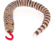 Cat Toy Catnip Rattle Snake Crochet Jingle Bells In Tail