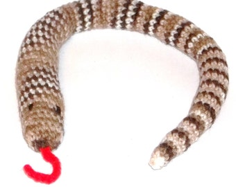 Cat Toy Catnip Rattle Snake Crochet Jingle Bells In Tail