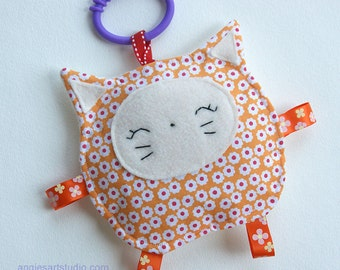 Marmalade the Kitty Cat, Baby Toy, Crinkle Toy, Baby Girl Gift