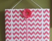 Hair Bow Board Organizer: Riley Blake Chevron Print with optional headband holder - pick your color (16 x 20)
