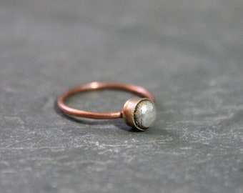 Copper Brass Sterling Ring