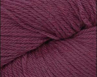 Cascade 220 Worsted, 100% Peruvian Highland Wool Yarn in PLUM, Color 9474