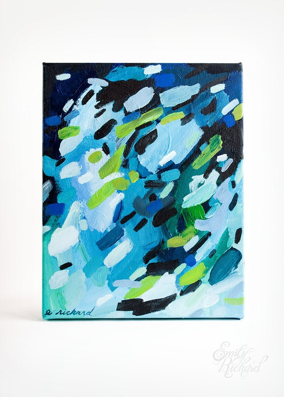 Pacific Coast, Original Abstract Acrylic Painting on Canvas