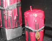 Fall Harvest Dragon's Blood Pillar Candle 2x3.5