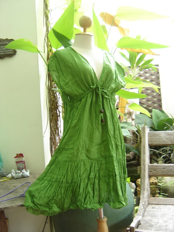 Lovely Cotton Tunic - Apple Green