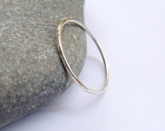 1mm thin Stacking Ring, Sterling Silver Slim Ring, Simple Ring, Slim Silver Band, minimalist, urban